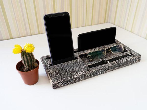 Делаем органайзер-подставку для телефона и планшета   Ярмарка Мастеров - ручная работа, handmade