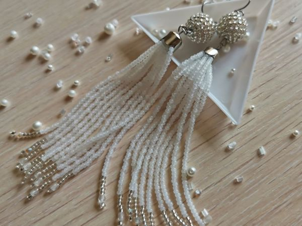 Делаем серьги-кисти из бисера своими руками | Ярмарка Мастеров - ручная работа, handmade