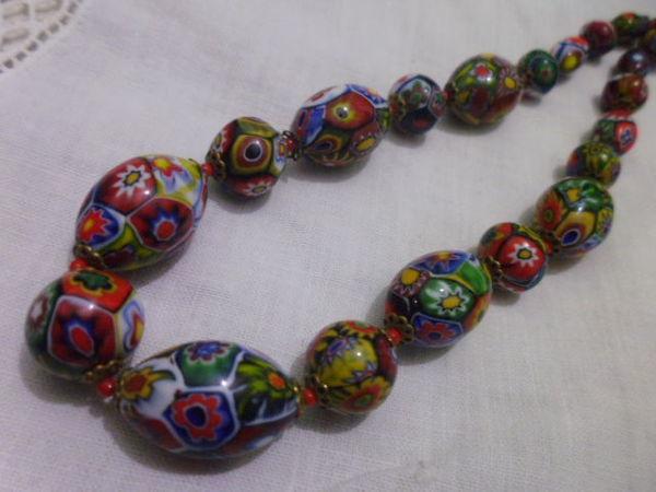 Венецианский жемчуг миллефиори | Ярмарка Мастеров - ручная работа, handmade