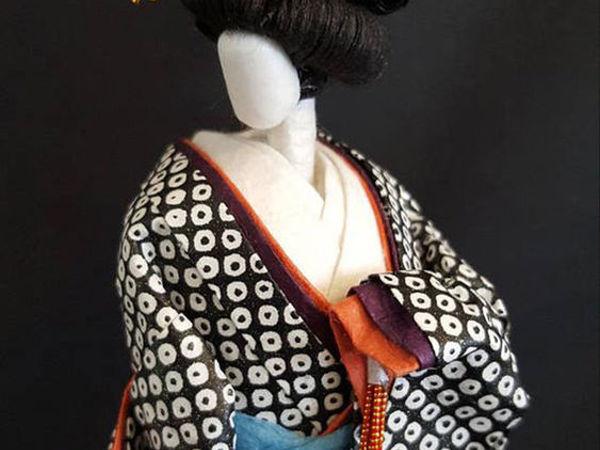 Бумажная скульптура: японские красавицы из васи | Ярмарка Мастеров - ручная работа, handmade