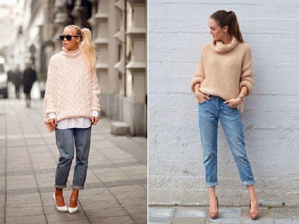С чем носить вязаный свитер? | Ярмарка Мастеров - ручная работа, handmade
