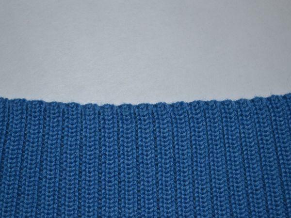 Вязание резинки 2х2 через 1 иглу (промышленный вариант) с не растянутым краем | Ярмарка Мастеров - ручная работа, handmade