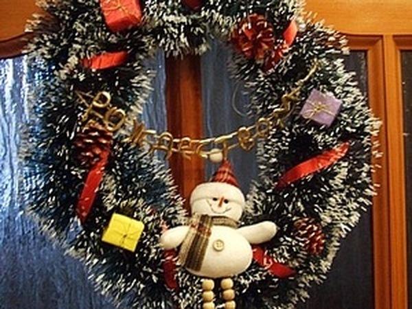 Рождественский венок | Ярмарка Мастеров - ручная работа, handmade