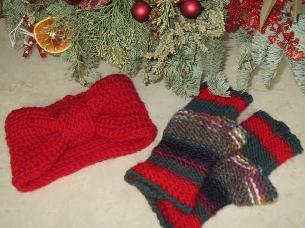 Митенки ОСКОЛКИ в подарок к повязке | Ярмарка Мастеров - ручная работа, handmade