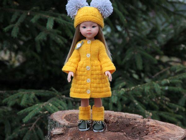Вяжем желтое пальто из комплекта «Белочка» для кукол Паола Рейна ростом 32-34 см   Ярмарка Мастеров - ручная работа, handmade