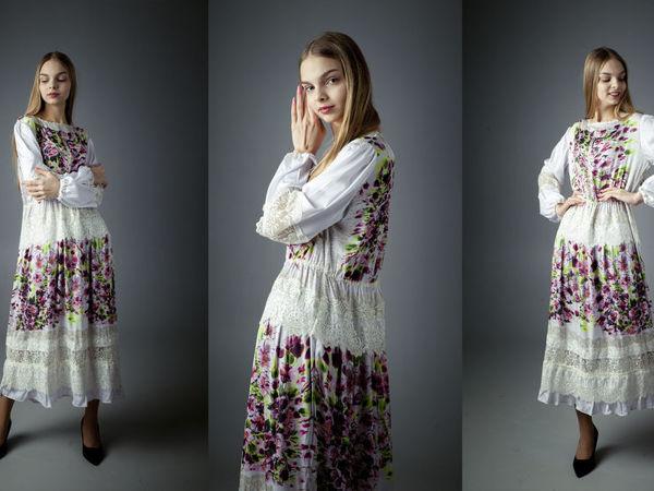 Бохо платье   Ярмарка Мастеров - ручная работа, handmade