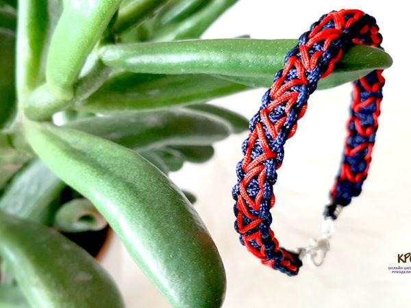 Плетем браслет с сердечками   Ярмарка Мастеров - ручная работа, handmade