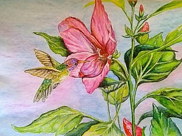 Рисуем картину акварельными карандашами   Ярмарка Мастеров - ручная работа, handmade