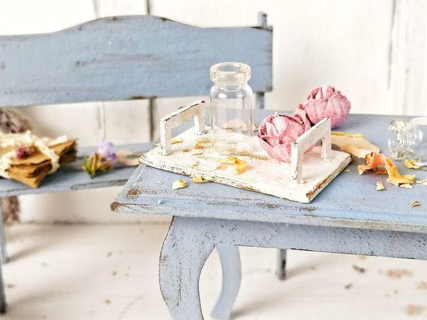 Делаем мебель для куклы из картона. Декор для фотографий | Ярмарка Мастеров - ручная работа, handmade