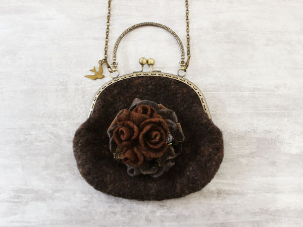 Мастер-класс: Валяем сумочку в винтажном стиле   Ярмарка Мастеров - ручная работа, handmade