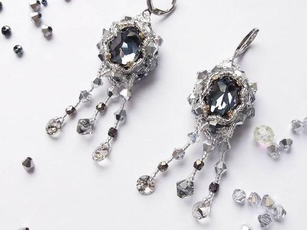 Оплетение кристалла Swarovski | Ярмарка Мастеров - ручная работа, handmade