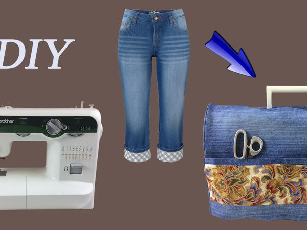 Шьем чехол для швейной машинки из джинсов | Ярмарка Мастеров - ручная работа, handmade