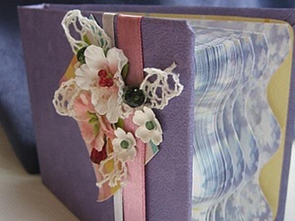 Скрап-блокнот из готового бумажного блока | Ярмарка Мастеров - ручная работа, handmade