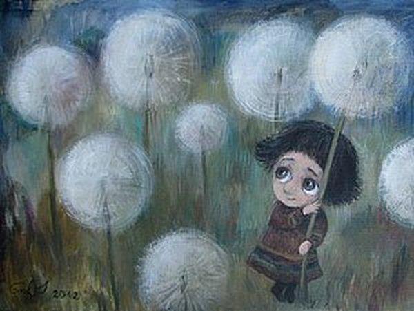 Трогательные картины Нино Чакветадзе | Ярмарка Мастеров - ручная работа, handmade