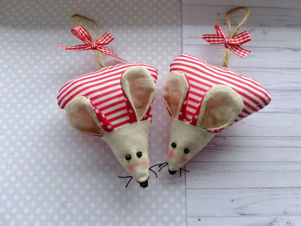Video Tutorial: Sewing Sweet Mice from Fabric Leftovers | Livemaster - handmade
