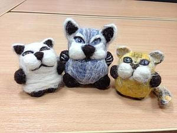 Процесс создания кота домашнего в технике валяния | Ярмарка Мастеров - ручная работа, handmade