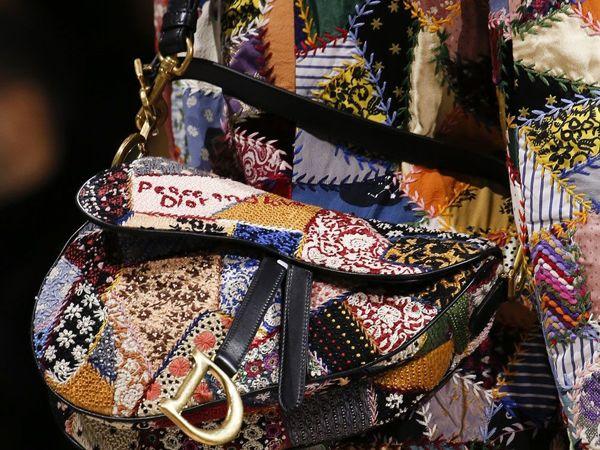 Зачем крейзи пэчворк в коллекции Dior: осень-зима 2018/19