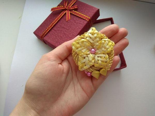 Броши из соломки в ассортименте   Ярмарка Мастеров - ручная работа, handmade