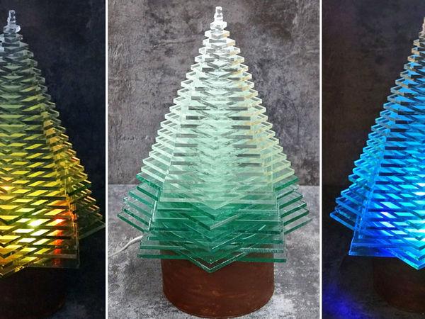 Делаем потрясающую новогоднюю елку из стекла | Ярмарка Мастеров - ручная работа, handmade