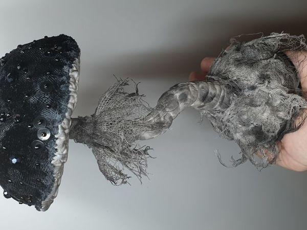 Черный интерьерный гриб | Ярмарка Мастеров - ручная работа, handmade