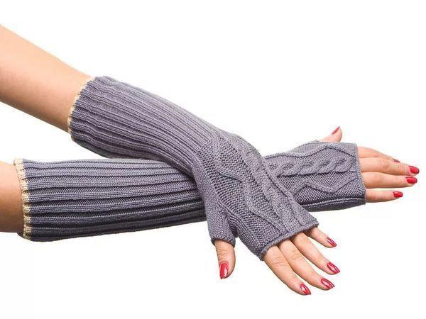 Вязаные митенки — тренд модного сезона! | Ярмарка Мастеров - ручная работа, handmade
