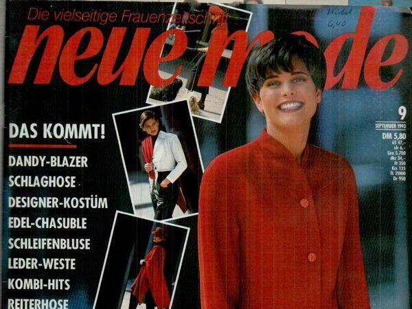 Neue mode 9 1993 (сентябрь) | Ярмарка Мастеров - ручная работа, handmade