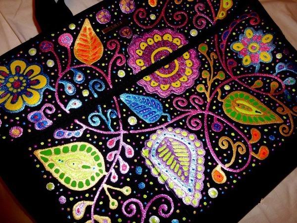 Украшаем сумку для ноутбука   Ярмарка Мастеров - ручная работа, handmade