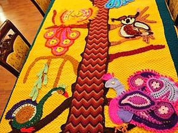 Вяжем покрывало «Волшебные птицы» | Ярмарка Мастеров - ручная работа, handmade