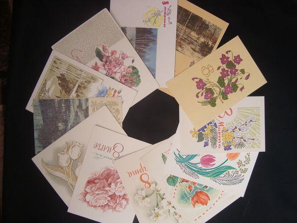 Письмо с  презентом: винтажная открытка  к 8 марта  в подарок любому, кто делал покупки в моем магазине.   Ярмарка Мастеров - ручная работа, handmade