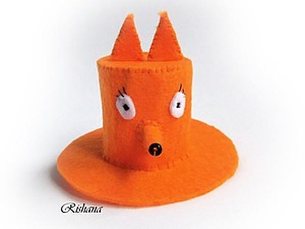 Мастерим шляпку-лисичку из фетра | Ярмарка Мастеров - ручная работа, handmade