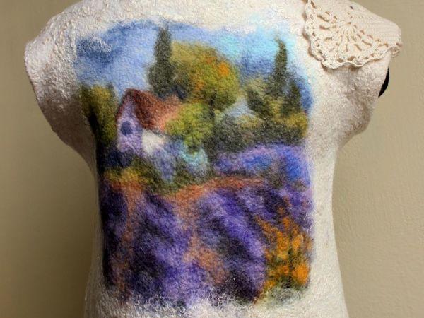 Мастер-класс по живописи шерстью «Лавандовое поле»   Ярмарка Мастеров - ручная работа, handmade