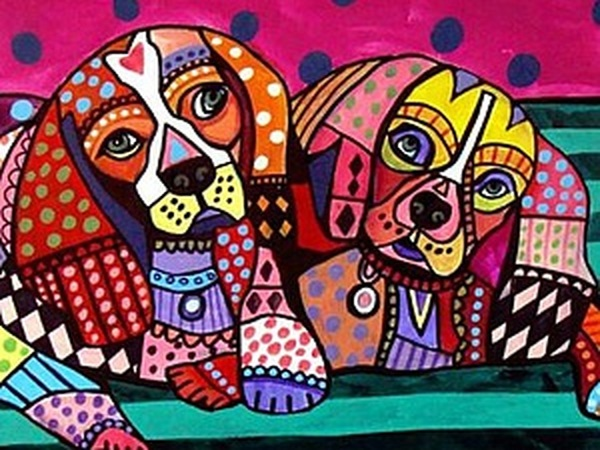 Психоделические собаки Heather Galler: невероятно яркие картины американской художницы | Ярмарка Мастеров - ручная работа, handmade
