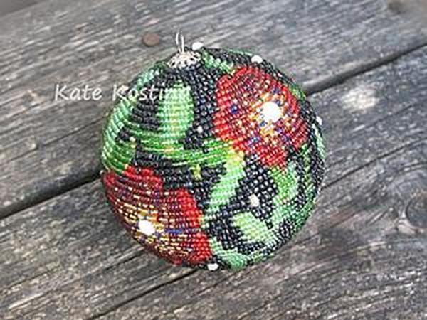 Создаем ёлочный шар в технике клеевая мозаика | Ярмарка Мастеров - ручная работа, handmade