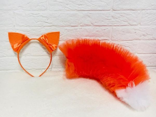 Мастерим хвост лисички из фатина | Ярмарка Мастеров - ручная работа, handmade