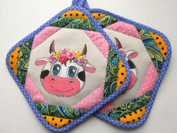 Шьем прихватку «Коровка Дуняша» | Ярмарка Мастеров - ручная работа, handmade