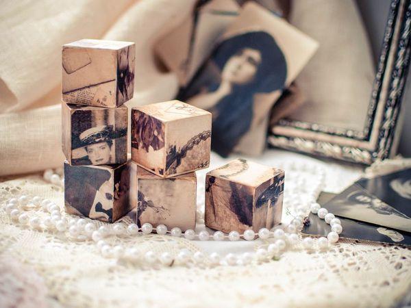 Мастер-класс по декорированию кубиков «Пазлы воспоминаний» | Ярмарка Мастеров - ручная работа, handmade