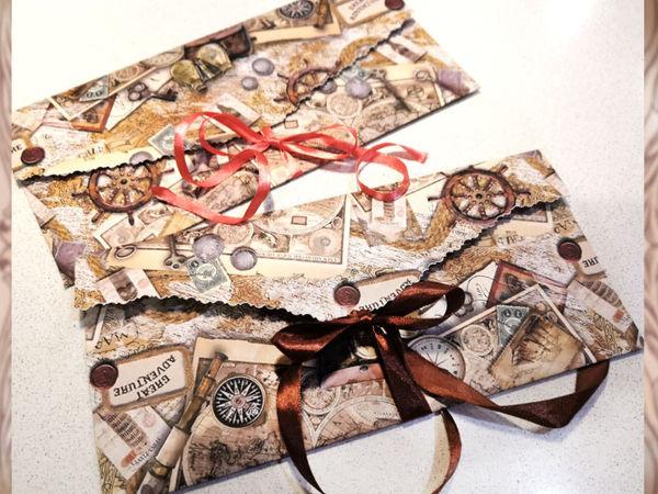 Делаем подарочный конверт нестандартных размеров | Ярмарка Мастеров - ручная работа, handmade