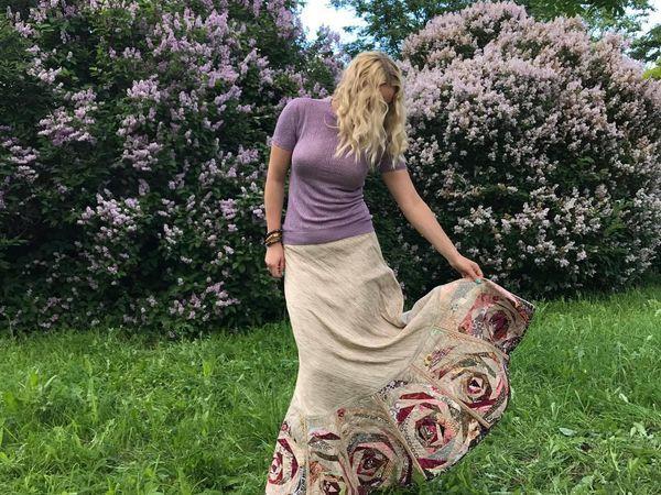 Как сшить лоскутную юбку из дикого шелка. Часть 2   Ярмарка Мастеров - ручная работа, handmade