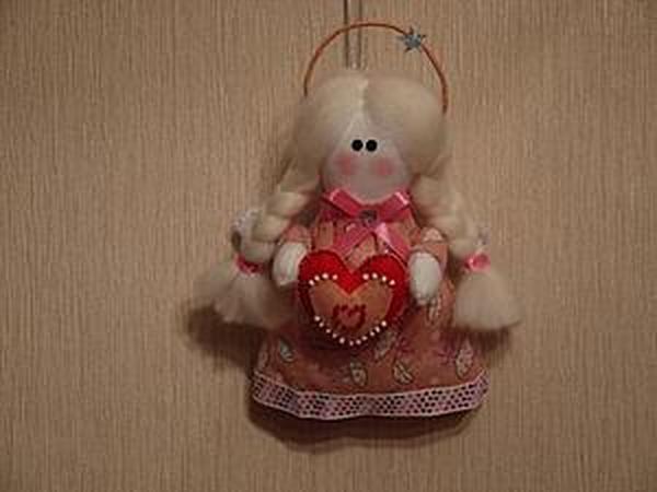 Видео мастер-класс: шьем милую куколку-ангела к Дню Святого Валентина | Ярмарка Мастеров - ручная работа, handmade