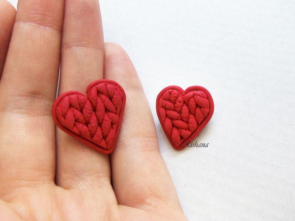 Make Heart Brooch Of Polymer Clay   Livemaster - handmade
