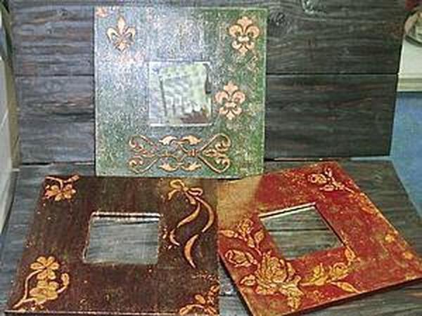Объёмное золочение! Сусальное золото, поталевая крошка, трафареты и объемная паста.   Ярмарка Мастеров - ручная работа, handmade