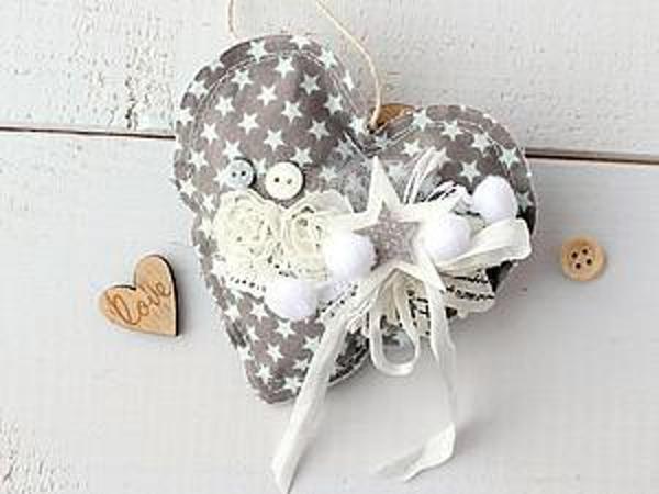 Handmade Heart Made with Fabric   Livemaster - handmade