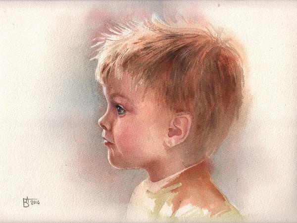 Детский портрет | Ярмарка Мастеров - ручная работа, handmade