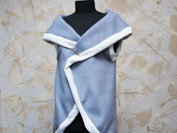 Шьем теплый жилет без выкройки | Ярмарка Мастеров - ручная работа, handmade
