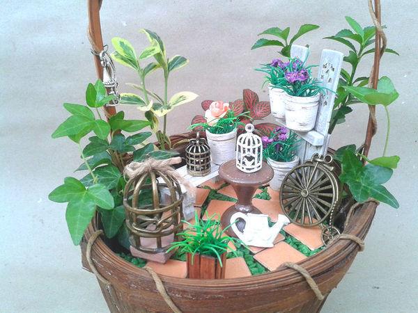 Делаем мини-сад своими руками   Ярмарка Мастеров - ручная работа, handmade