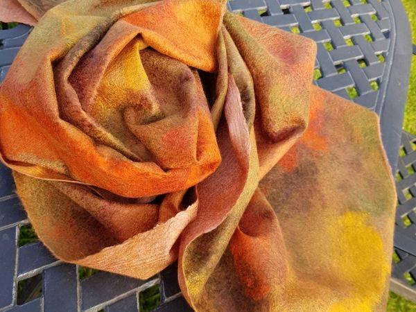 Мастер класс по валянию шарфа-палантина  «Легенды Осени» | Ярмарка Мастеров - ручная работа, handmade