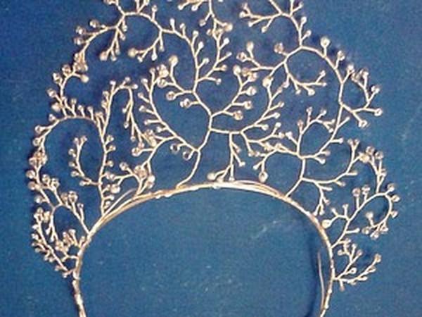 Делаем ободок «Морозные узоры» | Ярмарка Мастеров - ручная работа, handmade