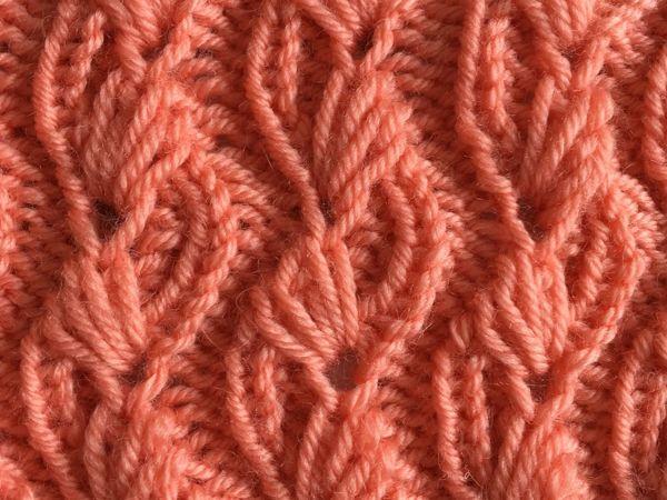ВЕТОЧКИ ВЕСНЫ / Красивый ажурный узор для вязания спицами / Разбор узора | Ярмарка Мастеров - ручная работа, handmade