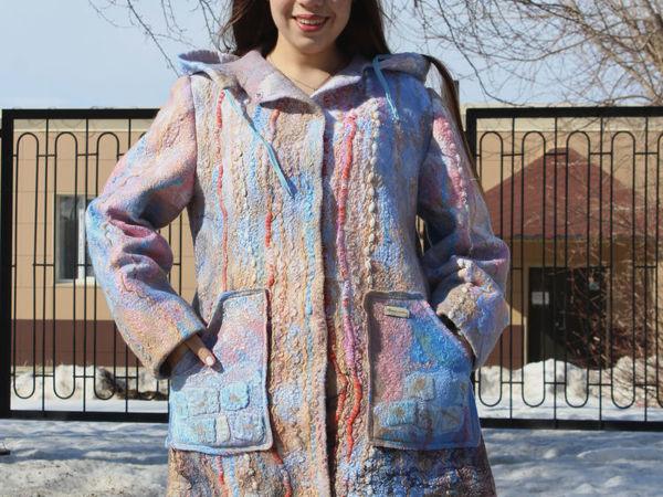 Куртка валяная  «Ручей студеный» | Ярмарка Мастеров - ручная работа, handmade