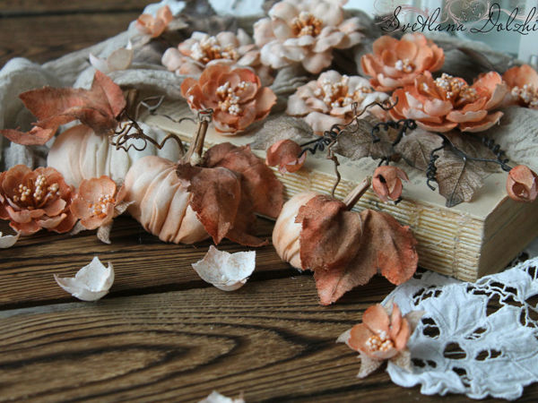 Making Cotton Pumpkins | Livemaster - handmade
